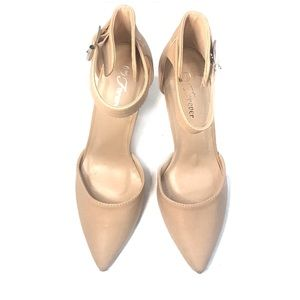 Forever D'Orsay Pointed Toe Heel Pump Nude 7.5